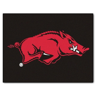 Fanmats University of Arkansas Black Nylon Allstar Rug (2'8 x 3'8)