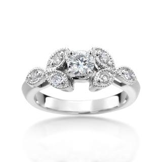 SummerRose 14k White Gold 4/5ct TDW Diamond Ring (H-I, I1-I2)