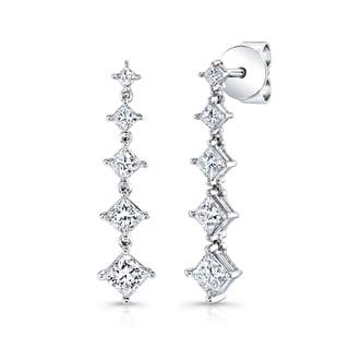 14k White Gold 1/4ct TDW Diamond Drop Earrings