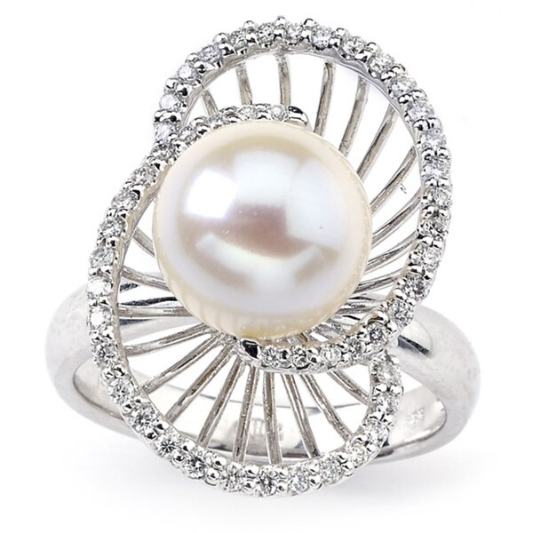 c9e93c10f4c94 Shop Diamonds for a Cure 14k White Gold Freshwater Pearl 1/3ct TDW ...