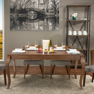Epperton Brown Wood Modern Dining Table