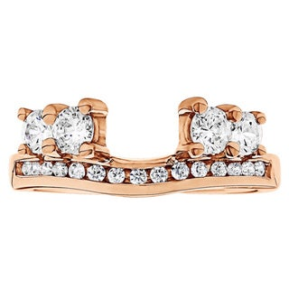 10k Gold 1/3ct TDW Diamond Solitaire Anniversary Ring Wrap Enhancer (G-H, I2-I3)