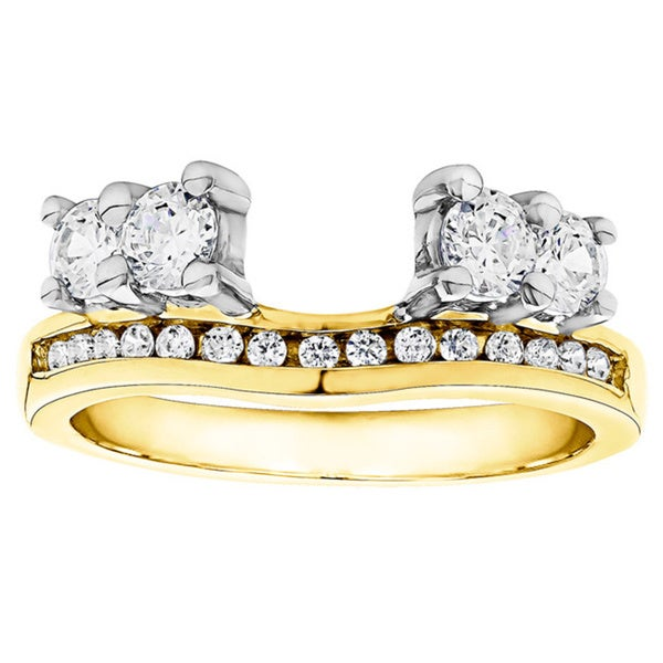 Shop Twobirch 10k Gold 1 3ct Tdw Diamond Solitaire Anniversary Ring