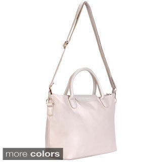 Venezia Faux Leather Flap Tote