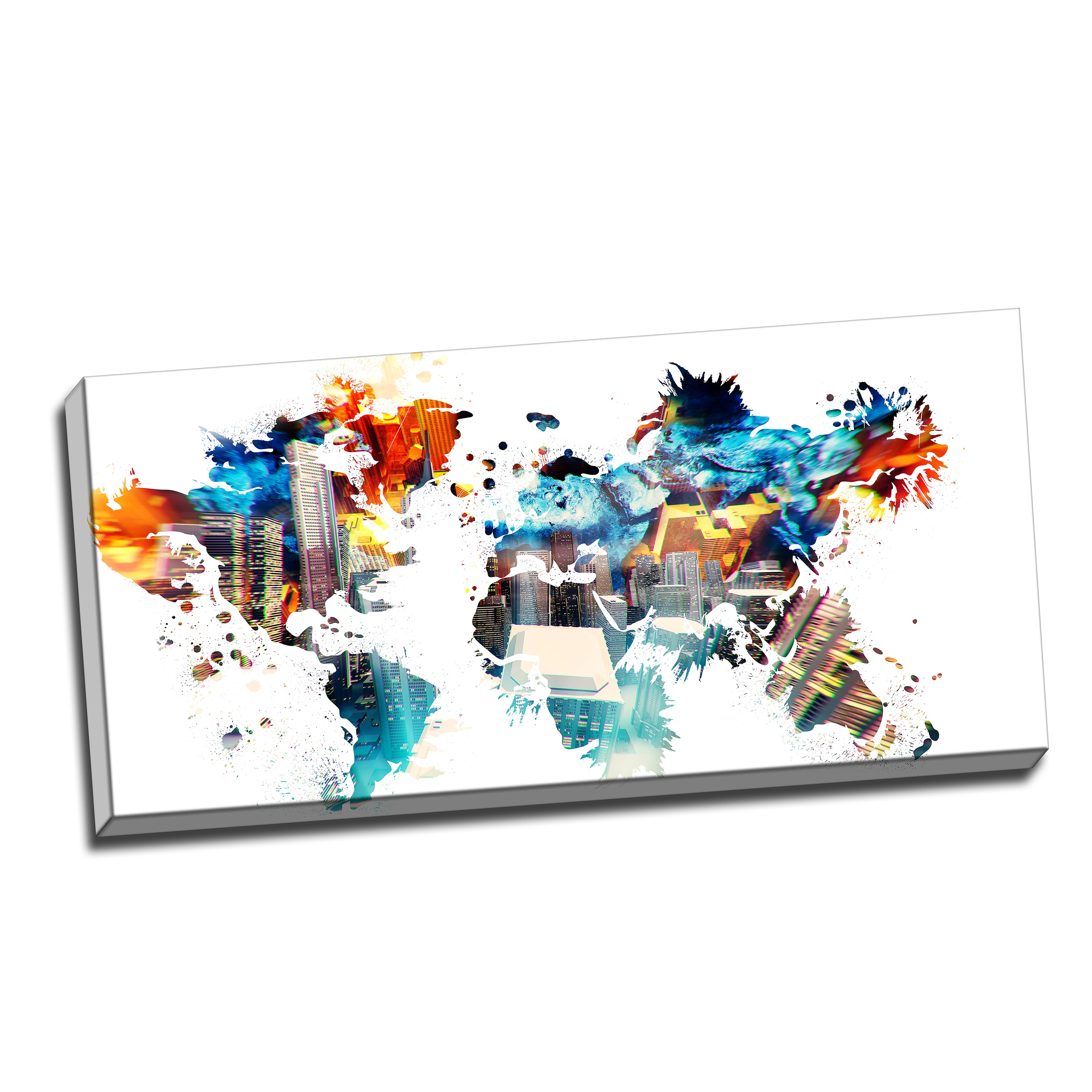 Picture of: Shop Black Friday Deals On Design Art Color My World Map Canvas Art Print Overstock 10031990