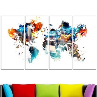 Map design art art gallery shop our best home goods deals online design art color my world map canvas gumiabroncs Images