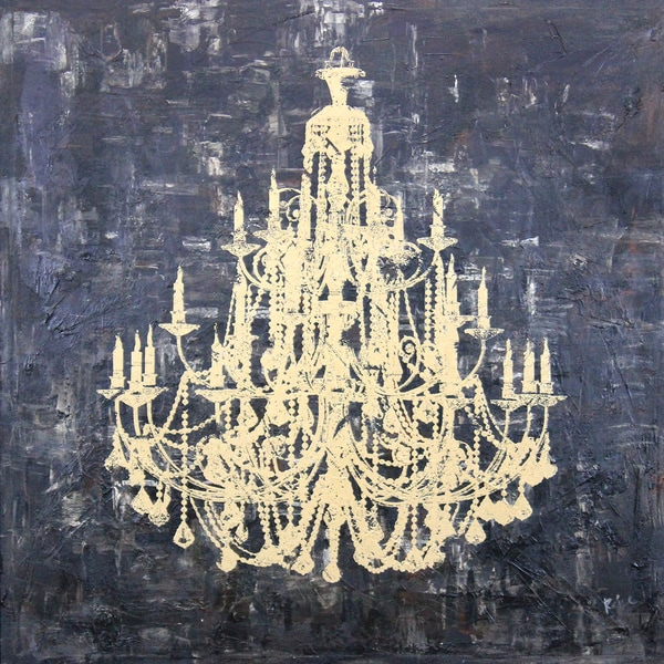 Art In Style X27 Gold Chandelier Hand Painted