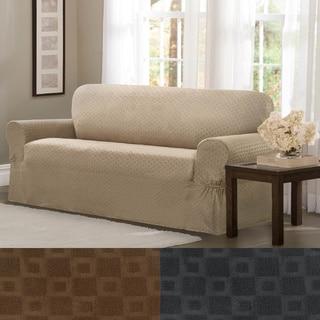 Maytex Conrad Stretch Fabric One-piece Sofa Slipcover