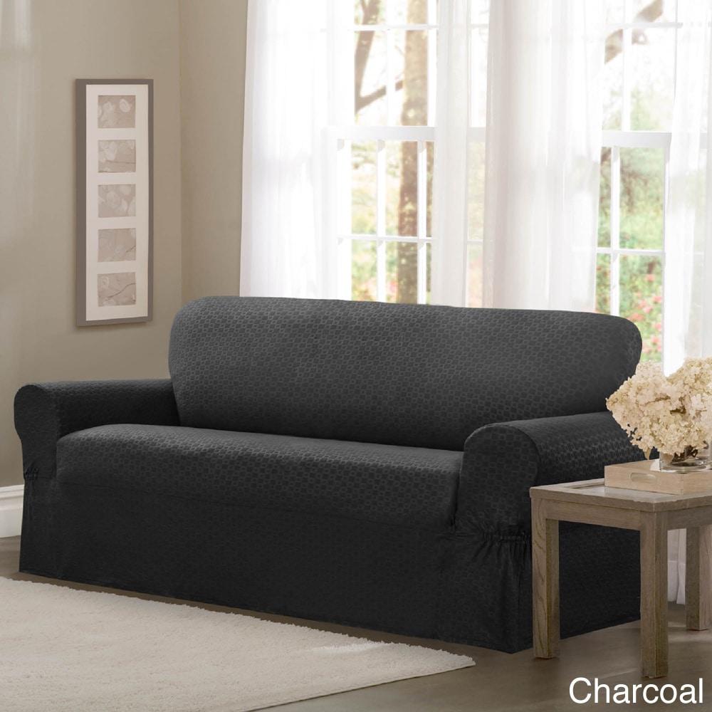 Maytex Conrad Stretch Fabric One Piece Sofa Slipcover