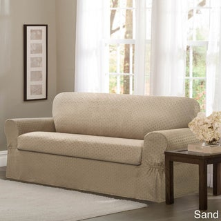 Maytex Conrad Stretch Fabric Two-piece Loveseat Slipcover