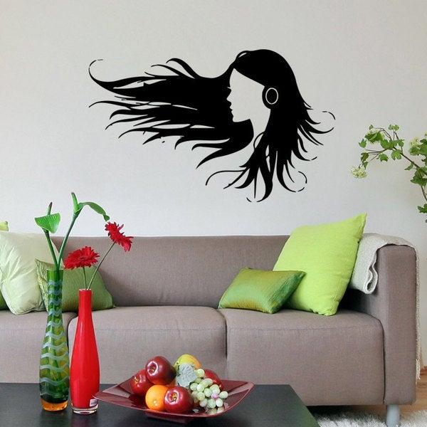 Musical Girl Sticker Vinyl Wall Art