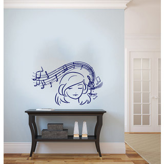 Musical Notes Tribal Treble Clef Floral Music Inspirational Sticker Vinyl Wall Art