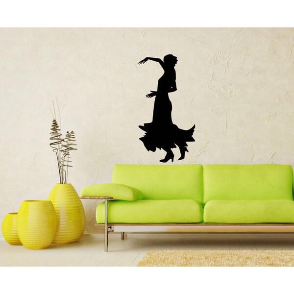 Girl Dancing Silhouette Flamenco Inspirational Sticker Vinyl Wall Art