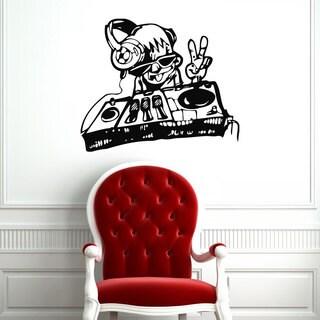DJ Dance EDM House Techno Music Inspirational Sticker Vinyl Wall Art