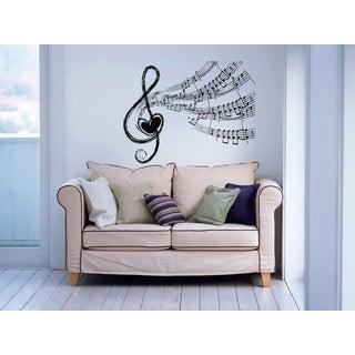 Music Notes Clef Sticker Vinyl Wall Art