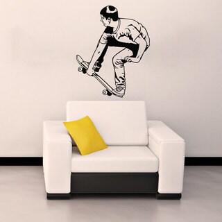 Skateboarder Skateboarding Sticker Vinyl Wall Art