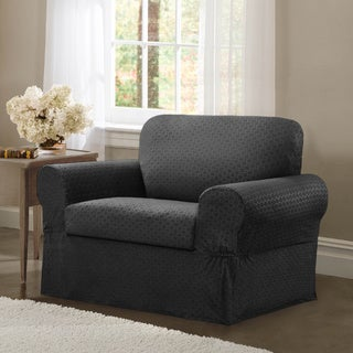 Maytex Conrad Stretch Fabric Two-piece Chair Slipcover