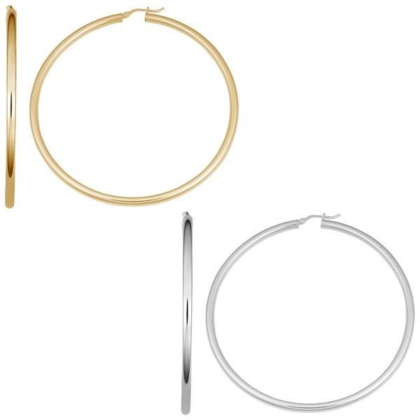 98258951a Shop Fremada Sterling Silver Hoop Earrings - On Sale - Free Shipping ...