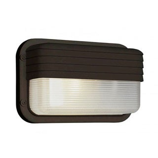Cambridge 1-Light Black 10 in. Outdoor Flush Mount with Clear Polycarbonate