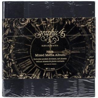 "Staples Mixed Media Album 8""X8""-Black"