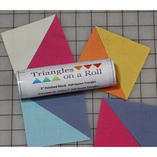 """Half-Square Triangles On A Roll -50' 3.5"""" Finished Size"""