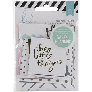 "Heidi Swapp Hello Beautiful Embellishments 24/Pkg-Foil Pocket Cards, 2""X2"" & 3""X3"""