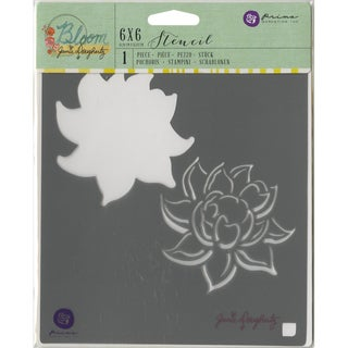 "Jamie Doughtery Bloom Stencil 6""X6""-Lotus"