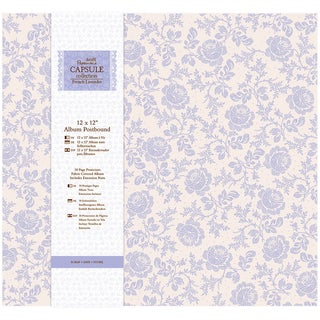Papermania French Lavender Postbound Album 12inX12in