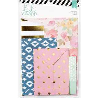"Wanderlust Assorted Envelopes 4/Pkg-3""X3.5"" To 5""X7"""