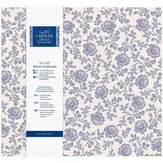 Papermania Parisienne Blue Postbound Album 12inX12in