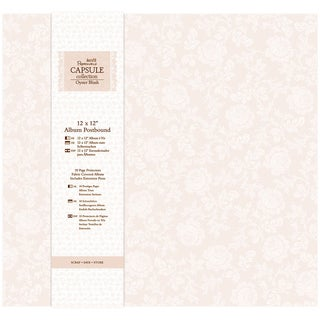 Papermania Oyster Blush Postbound Album 12inX12in