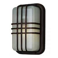 Cambridge 1-Light Black 6.5 in. Outdoor Flush Mount with Clear Polycarbonate
