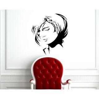 Woman Face Sticker Vinyl Wall Art