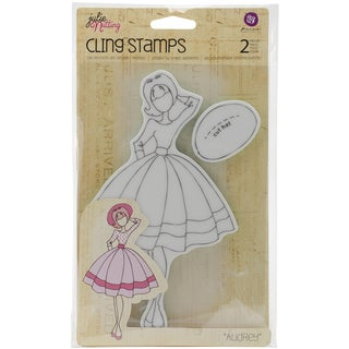 Julie Nutting Mixed Media Cling Rubber Stamps-Audrey