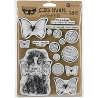 """Finnabair Cling Stamps 6""""X7.5""""-Don't Forget To Fly"""