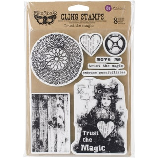 "Finnabair Cling Stamps 6""X7.5""-Trust The Magic"