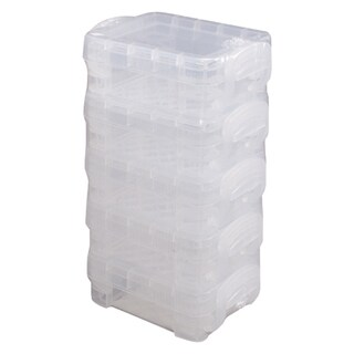 Storage Studios Super Stacker Bitty Boxes 5/Pkg-Stacked, Clear
