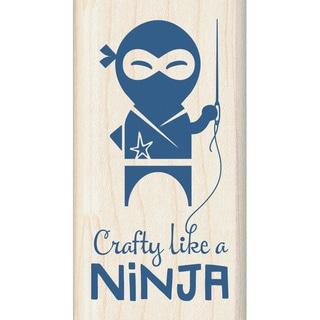 """Inkadinkado Mounted Rubber Stamp 1.5""""X2.75""""-Crafty Like A Ninja"""