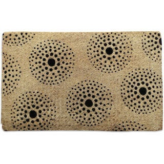 First Impression Geometric Pattern Extra thick Handwoven Coir Decorative Doormat (1'6 x 2'6)