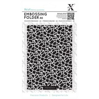 Xcut Universal A6 Embossing Folder-Cracked Tiles