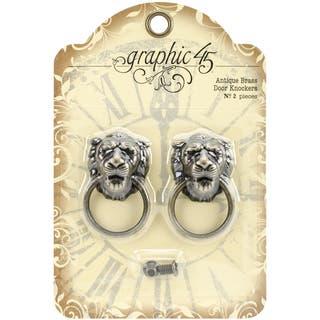 "Staples Door Knockers 2/Pkg-Antique Brass 2""X1.2""X.6""|https://ak1.ostkcdn.com/images/products/10033845/P17179583.jpg?impolicy=medium"