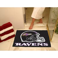 Fanmats Baltimore Ravens Black Nylon Allstar Rug (2'8 x 3'8)