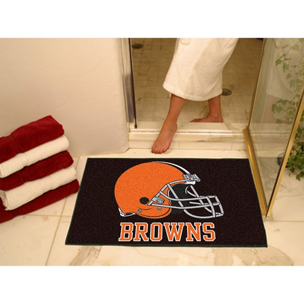Fanmats Cleveland Browns Black Nylon Allstar Rug (2'8 x 3'8)