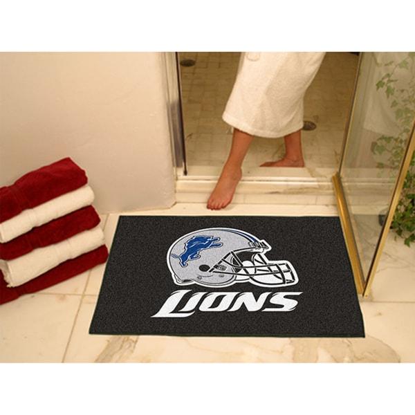 Fanmats Detroit Lions Black Nylon Allstar Rug (2'8 x 3'8)