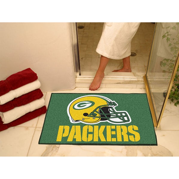 Fanmats Green Bay Packers Green Nylon Allstar Rug (2'8 x 3'8)