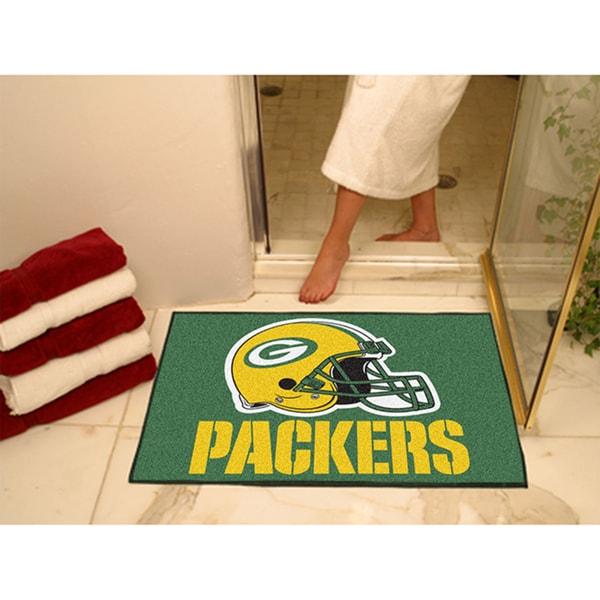 Fanmats Green Bay Packers Green Nylon Allstar Rug (2'8 x 3'8)