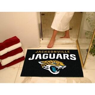 Fanmats Jacksonville Jaguars Black Nylon Allstar Rug (2'8 x 3'8)