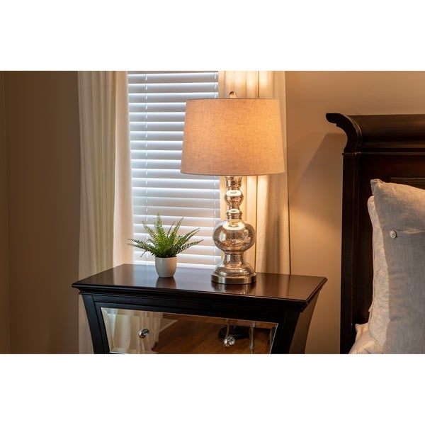 29.5-inch Mercury Glass Table Lamp. Opens flyout.