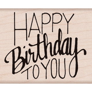 """Hero Arts Mounted Rubber Stamp 2""""X2.5""""-Happy Birthday To You"""