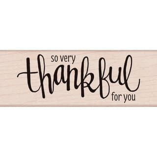 "Hero Arts Mounted Rubber Stamp 3.75""X1.25""-Thankful